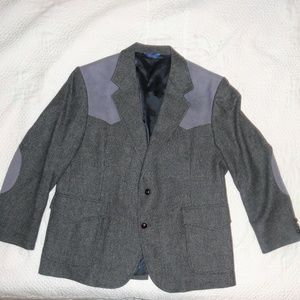 VTG West Sport Coat Tweed Elbow Patches Pendleton